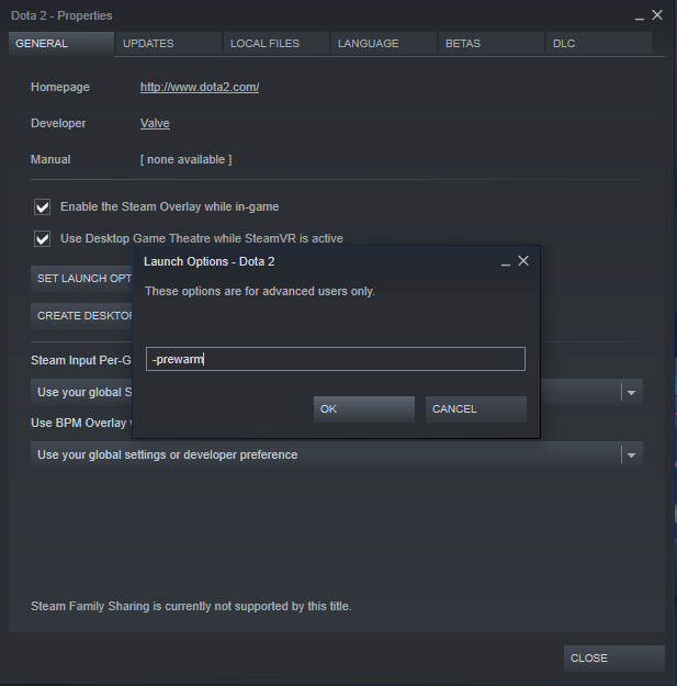 valve prewarm1 Valve se konačno sažalio na zastarele računare sa novom Dota 2 launch opcijom